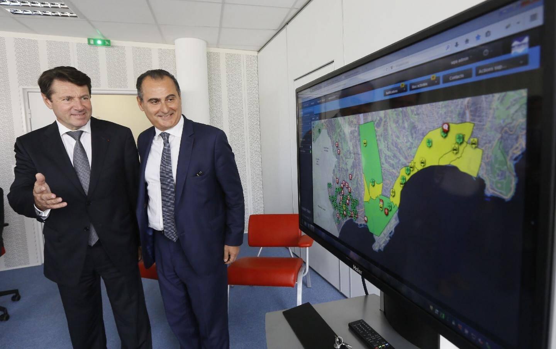 Les premiers résultats de la plateforme ont été présentés en présence de Christian Estrosi, président de la Métropole Nice-Côté d'Azur, et d'Alain Bénichou, président d'IBM France.
