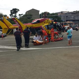 Le plongeur a été héliporté vers l'hôpital d'Ajaccio