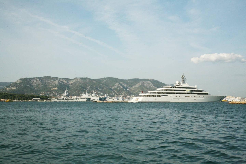 Le yacht de Roman Abramovitch en escale à La Seyne 2