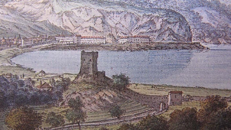 La tour du Barri Vieil dominant Magnan et le mur, en 1 787.