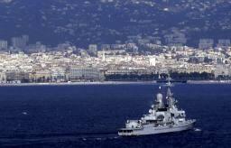 La frégate Jean-Bart au large de Nice