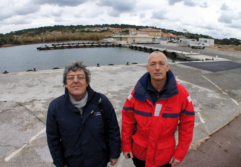 Pour Rémy Cassan-Barnel, à gauche, DGS de Port Toulon Provence, gestionnaire du site, « ce projet est à la mesure du caractère exceptionnel du site » .