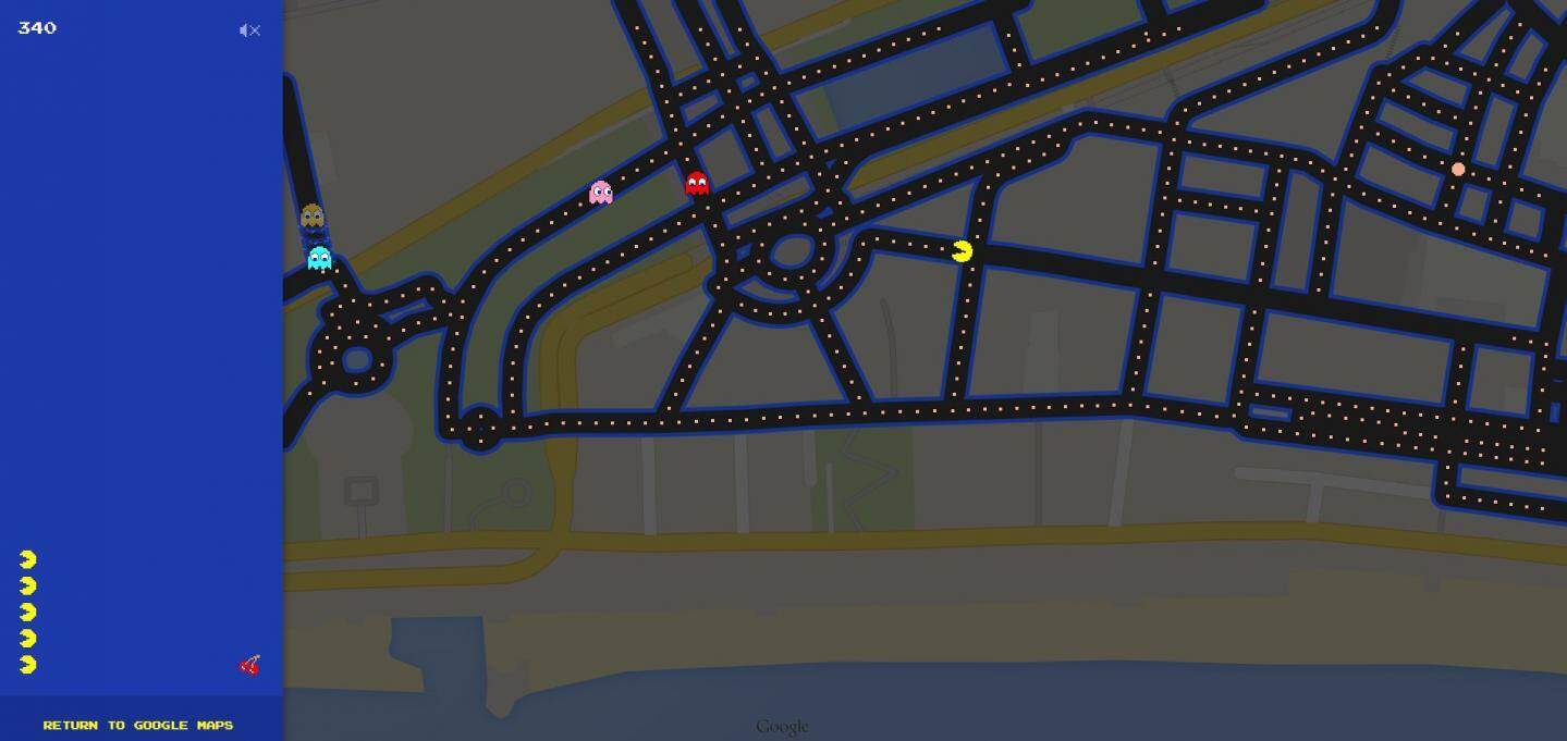 Les rues de Nice version Pac-Man
