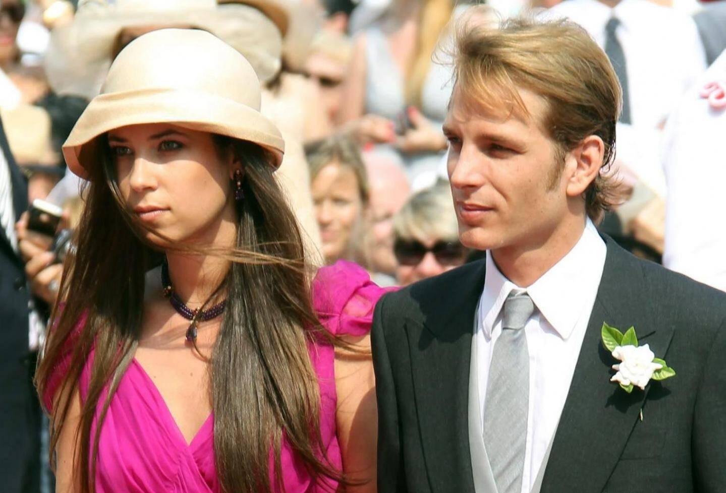 Tatiana Santo Domingo et Andrea Casiraghi lors du mariage de  Charlène et  d'Albert II de Monaco le 1er juillet 2011.