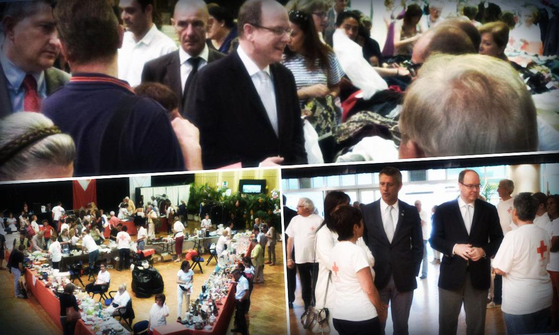 Le prince Albert II, président de la Croix-Rouge Monégasque, a salué les bénévoles qui ont donné de leur temps pour que la journée se passe au mieux.