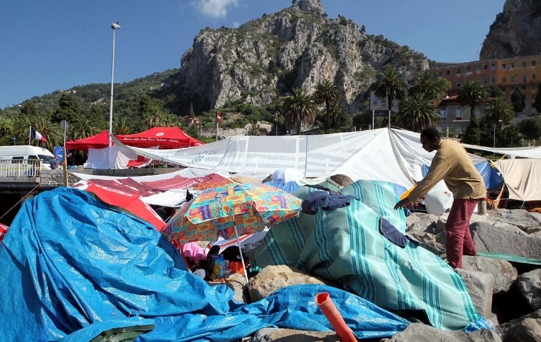 Un camp de réfugiés à Vintimille