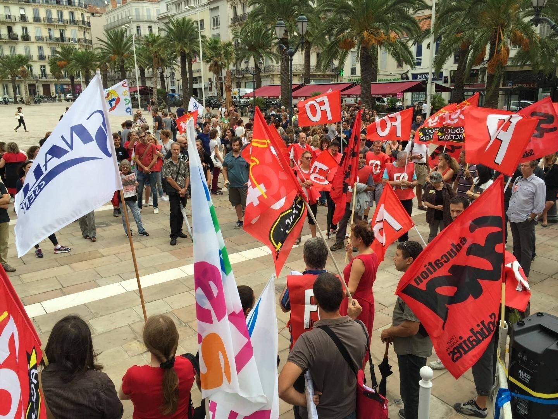 Manifestation contre la réforme des collèges à Toulon