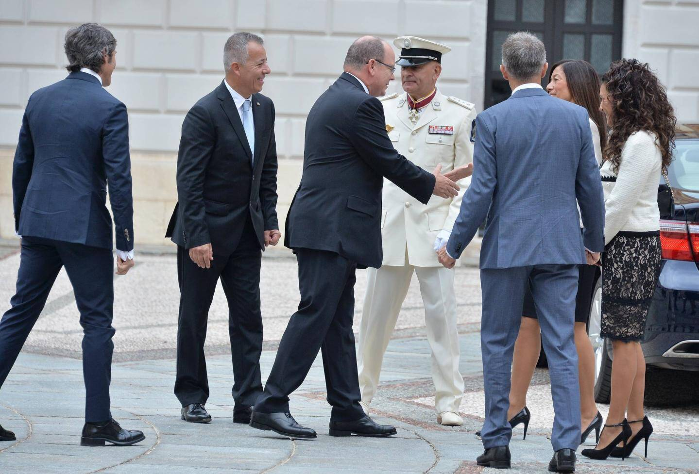 AGENCE MONACOCapitaines Régents d'Andorre reçu par le Prince Albert II de Monaco au Palais Princier.