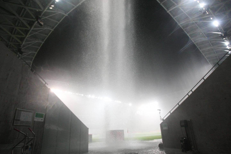 Le match qui opposait l'OGC Nice à Nantes a dû interrompu en raison des fortes pluies