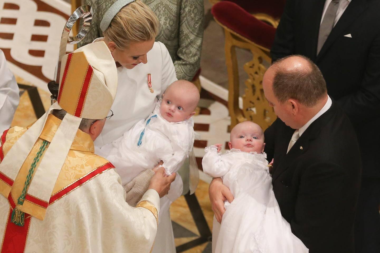 Baptême du prince héréditaire Jacques et de la princesse Gabriella.