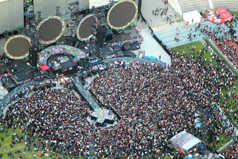 40.000 personnes étaient venues à Nikaïa en 2012 pour applaudir Coldplay.
