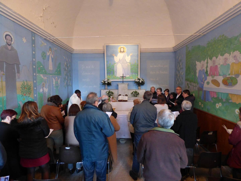 La chapelle Saint-Antoine a été le cadre de la messe le matin, puis d'une visite guidée l'après-midi.