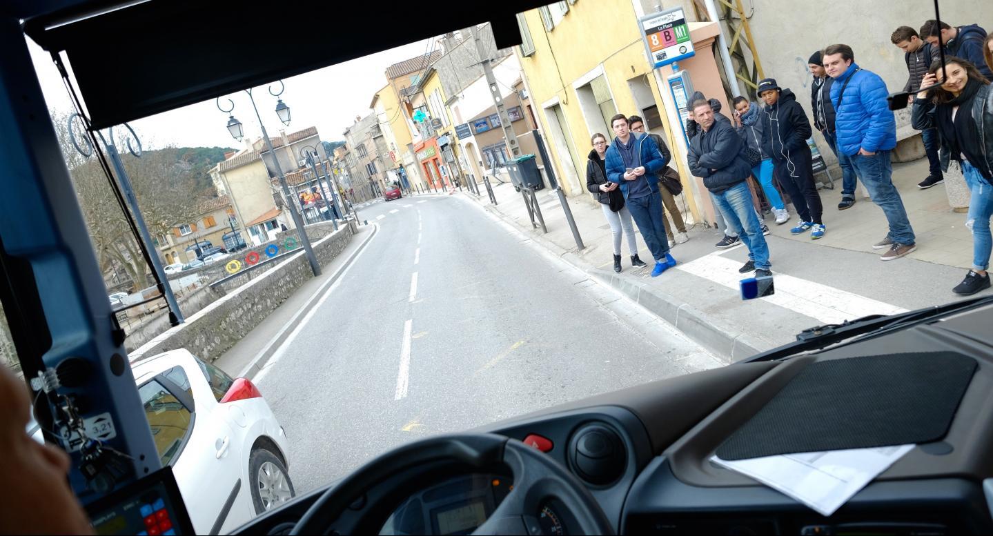 De nombreux étudiants et travailleurs d'Auriol se rendent quotidiennement vers Aubagne.