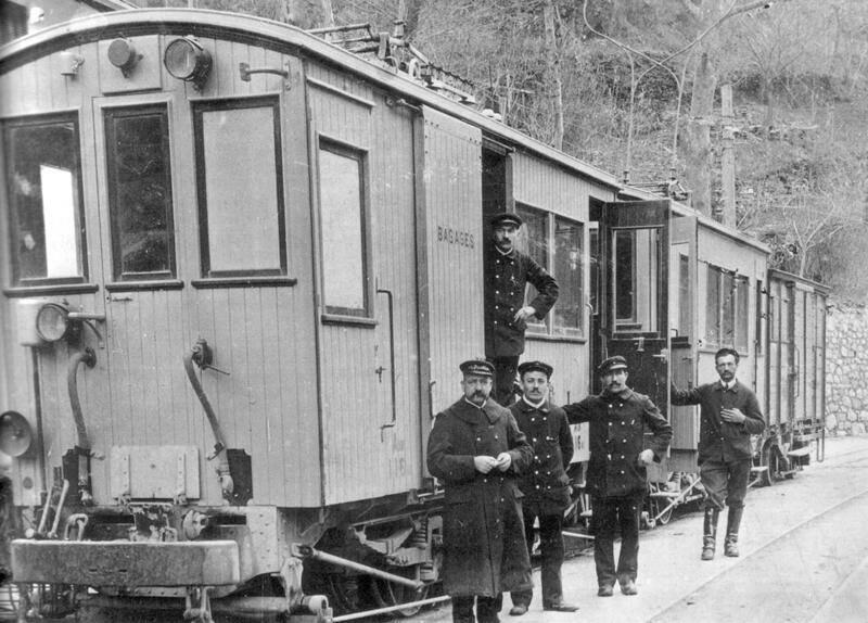 Le tramway de la Tinée a fonctionné entre 1912 et 1924.