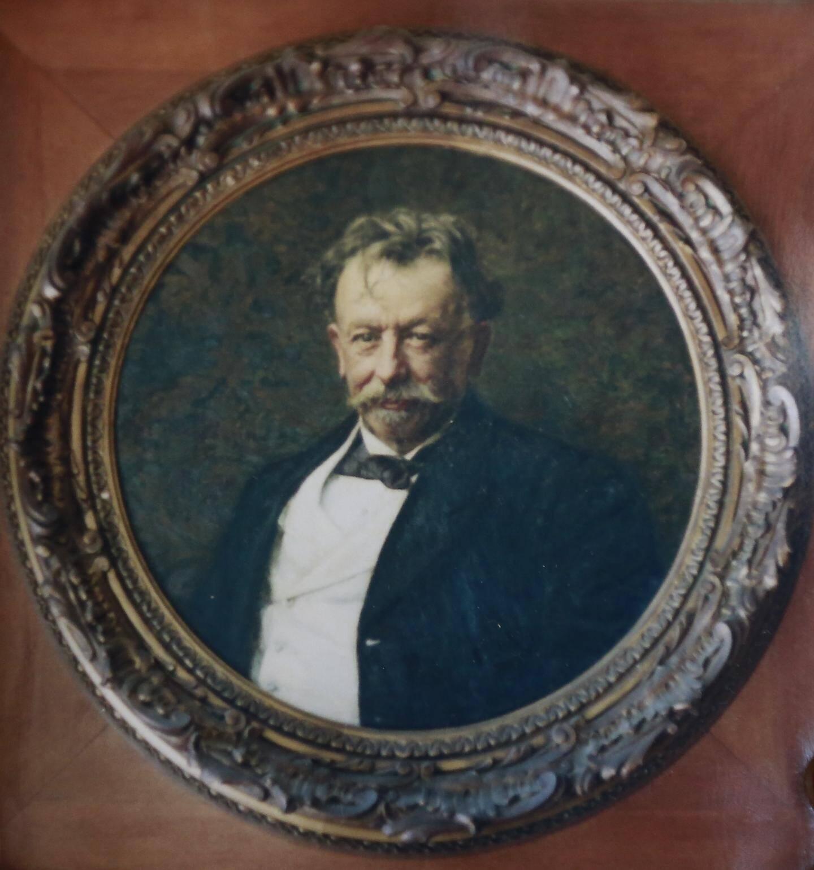 Le portrait de Biasini qui a longtemps orné les murs du grand salon de la villa éponyme.