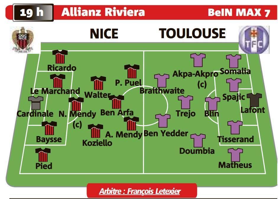 Composition attendue de Nice-Toulouse