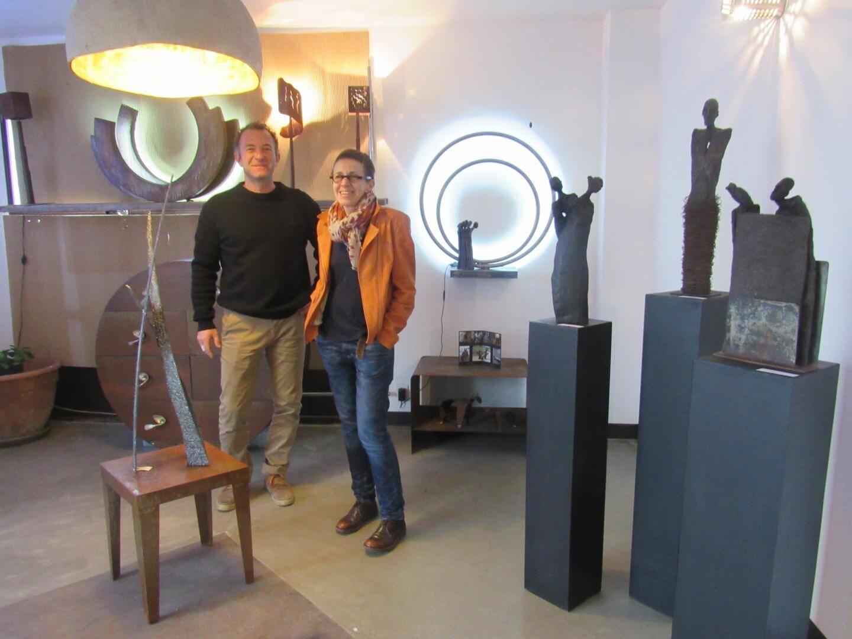 Eric Di Fruscia et Domi-A (sculpture et travail du fer).