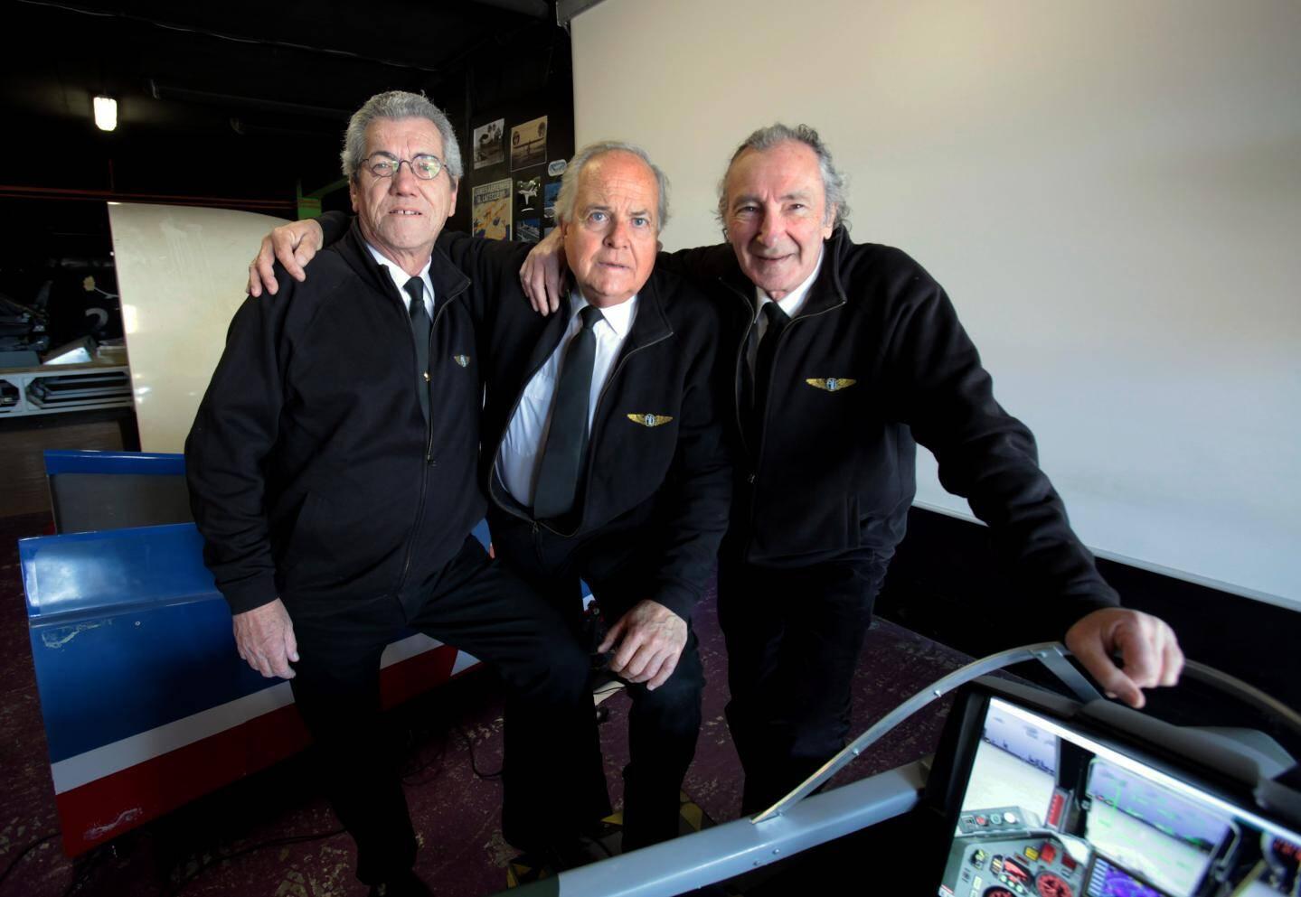 De gauche à droite Patrick, Jean-Paul et Freddy.