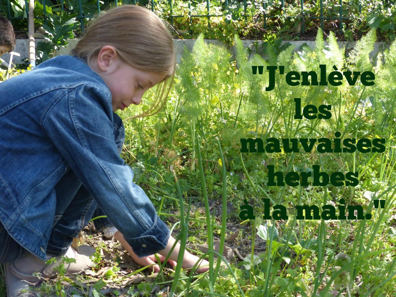 """Louise participe à l'atelier de jardinage """"bio"""" de la maison de l'environnement à Nice."""