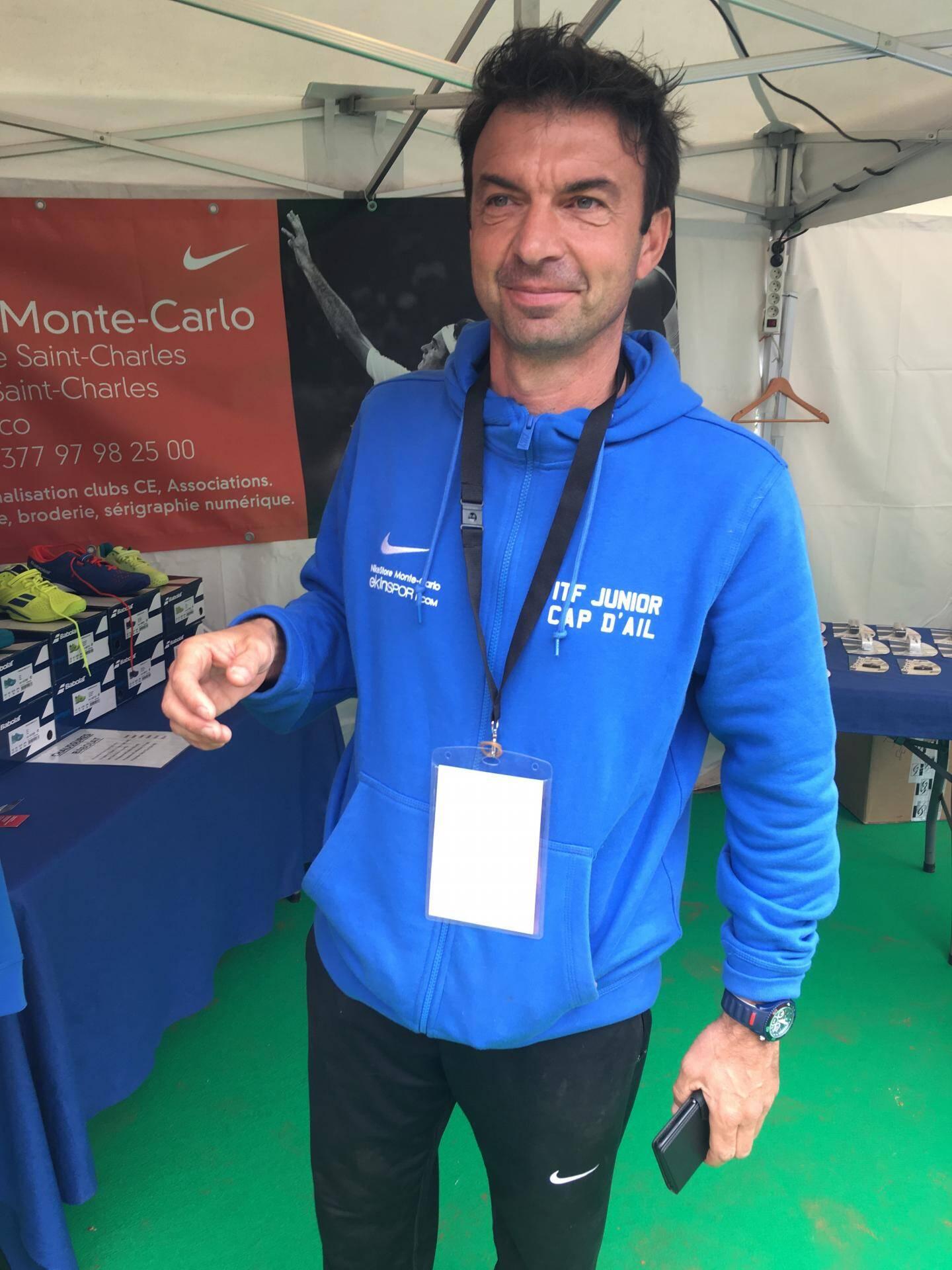 Christophe Chevalier, d'habitude Directeur Sportif du TCCA devient Responsable de l'Organisation pour le temps de l'ITF.