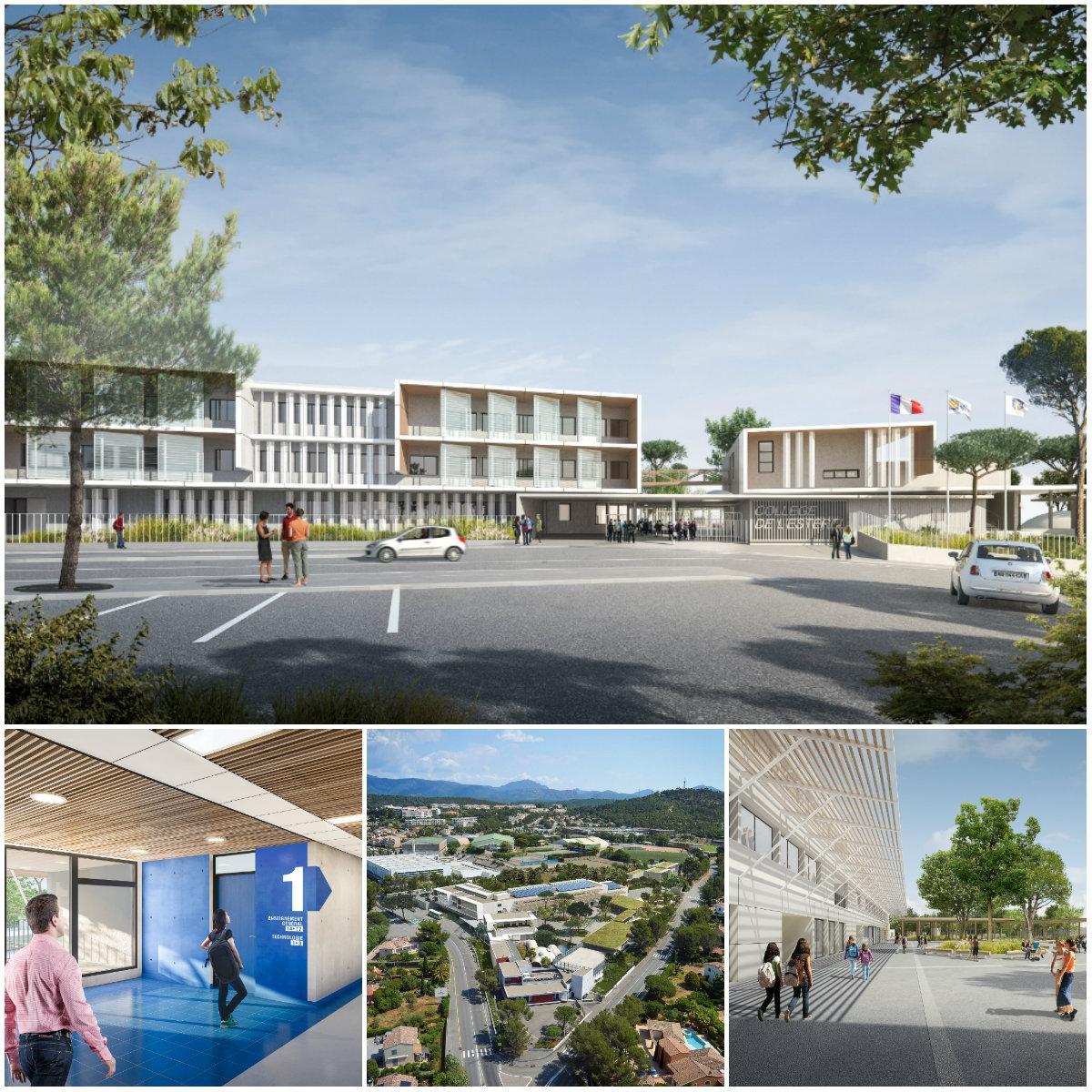Visuels intérieur et extérieur de la future construction dont la livraison est prévue en mars 2018.