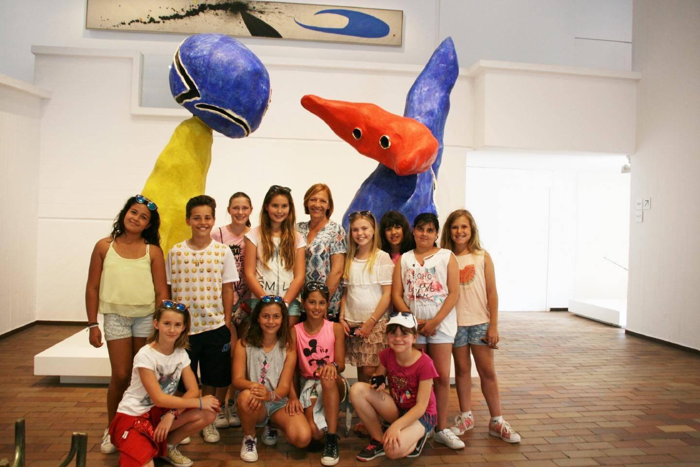 Les élèves ont pu apprécier les différentes  peintures et sculptures étudiées en classe.