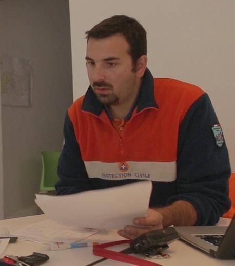 Jérémy Crunchant, cadre opérationnel à la Protection civile.