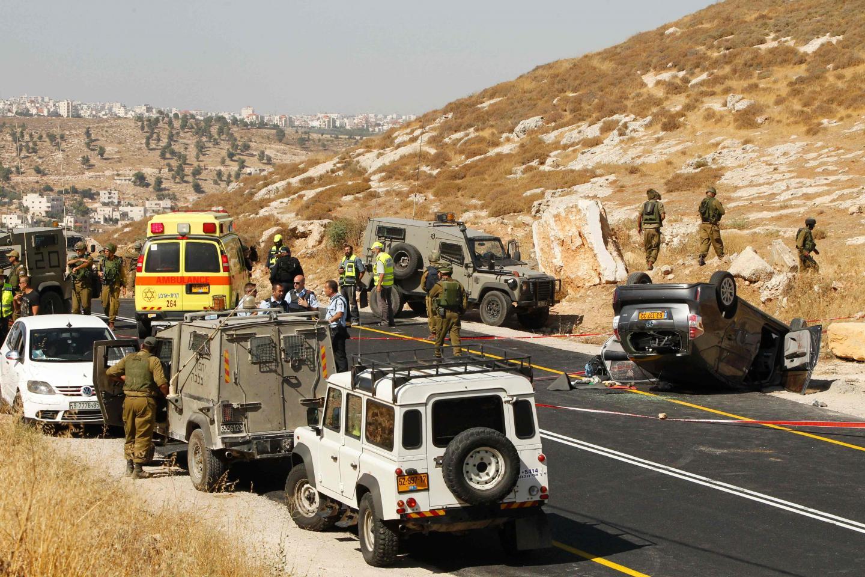 En juillet dernier, un Palestinien a ouvert le feu sur le véhicule d'une famille israélienne au sud de Hébron.