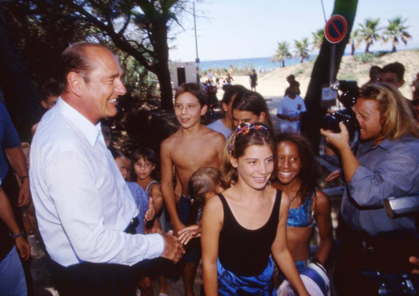 Jacques Chirac à Brégançon, en août 1995