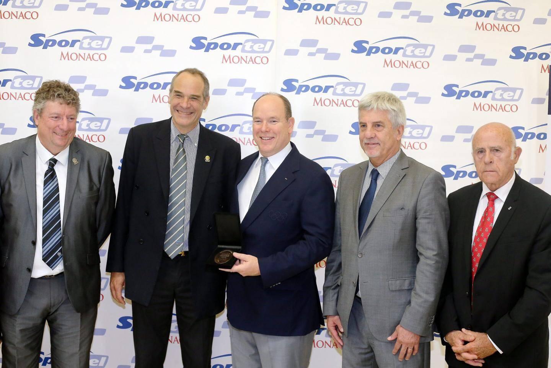 Le Comité régional olympique et sportif de la Côte d'Azur a honoré hier le souverain.