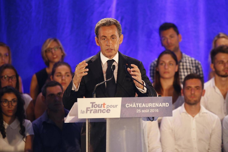 Nicolas Sarkozy lors du lancement de sa campagne à la fin de l'été