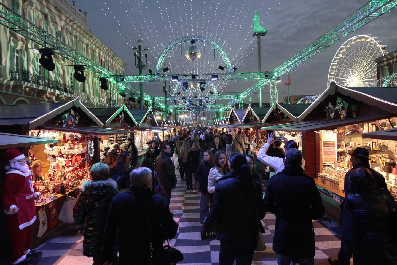 Le marché de Noël à Nice.