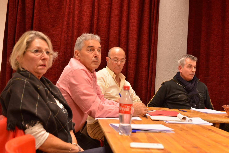 De gauche à droite : Joëlle Jacob, Gérard Branda, Christian Di-Martino et Jean-François Peyron.