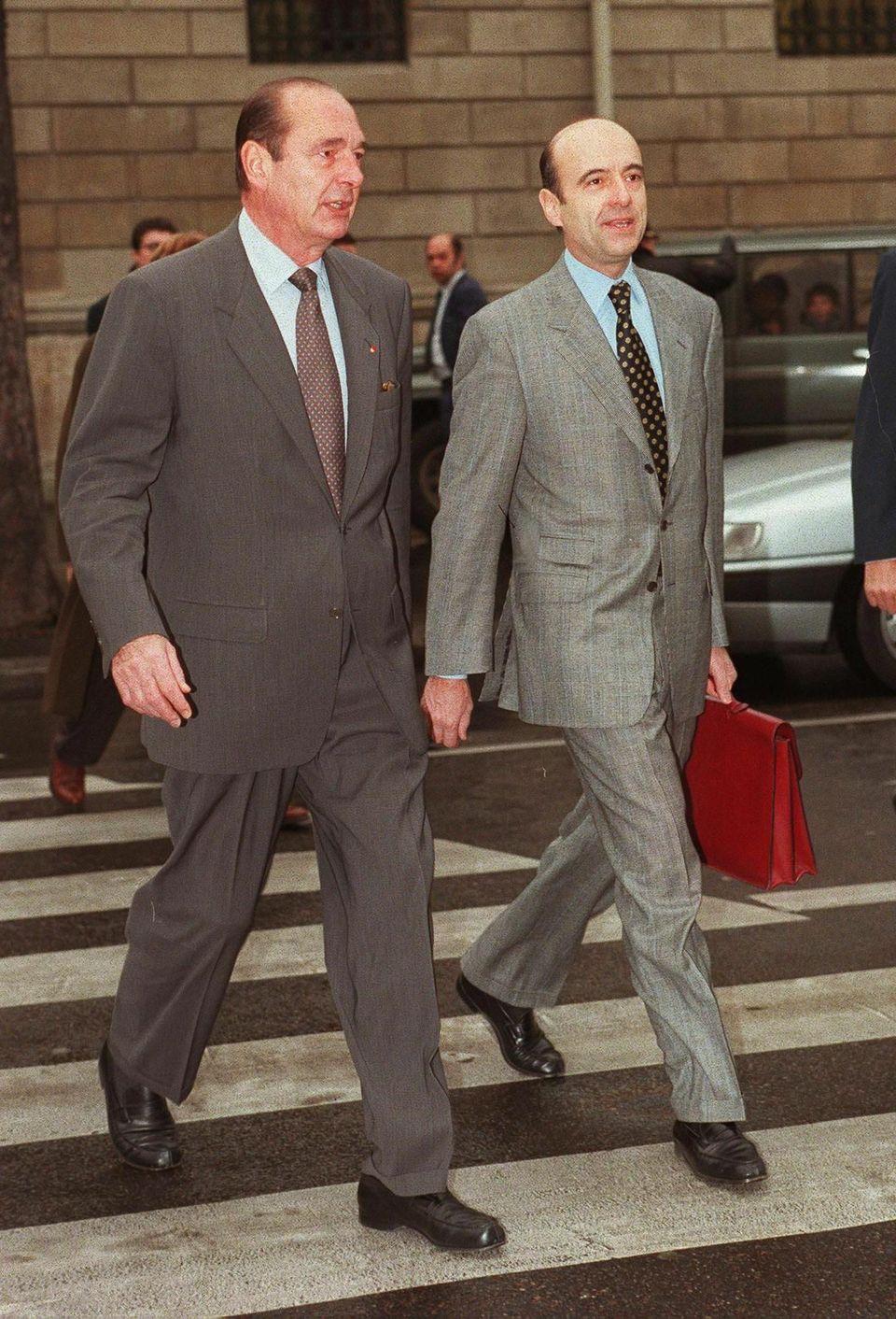 1995, aux côtés de Jacques Chirac