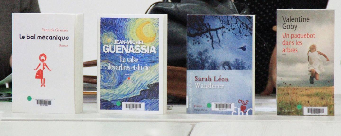 L'un de ces quatre livres recevra le prix Livre Azur en mai prochain.