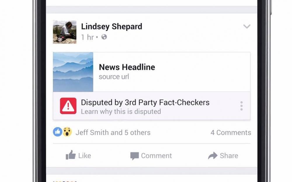 Le nouveau signalement de fausses informations sur Facebook.