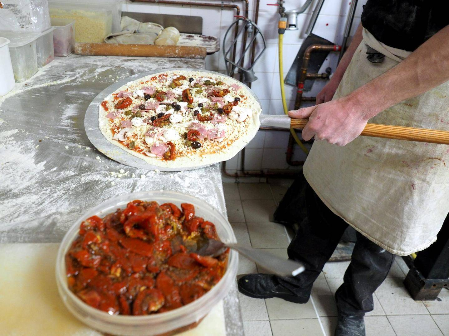 La Balotelli est composée de tomates séchées, de câpres et de ricotta.