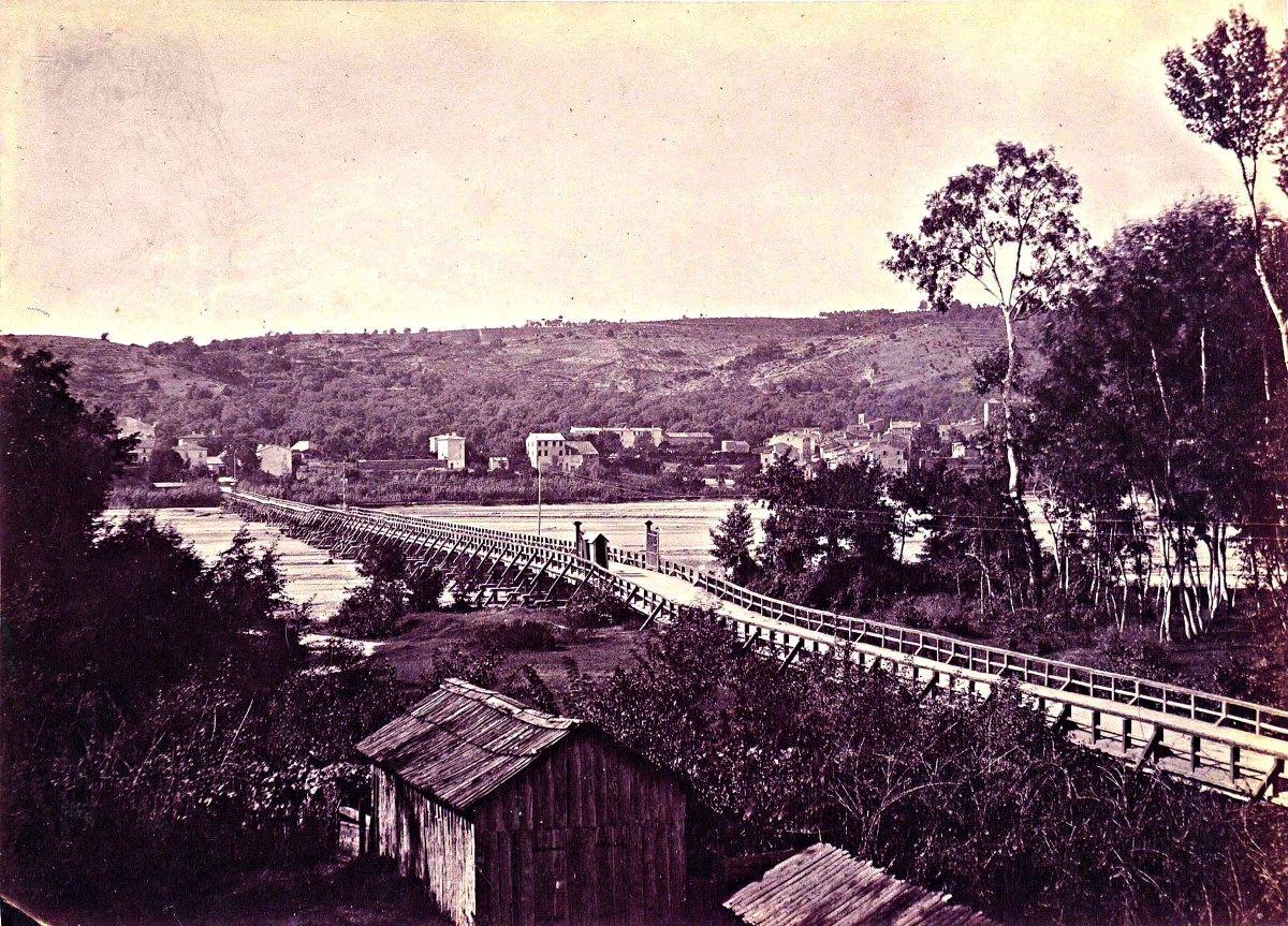Le pont du Var en 1859.