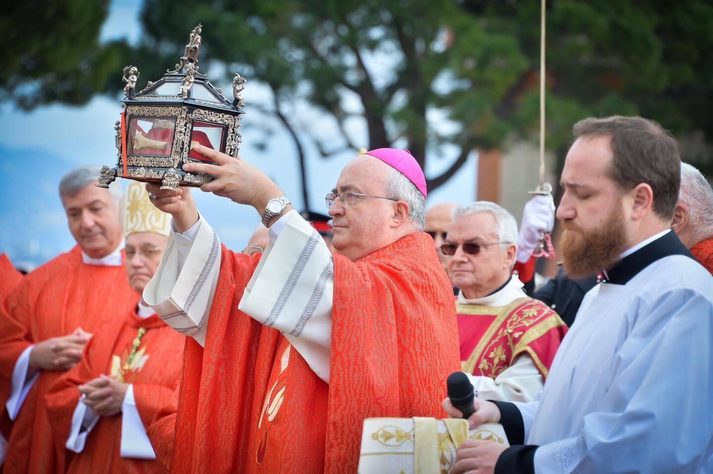 L'archevêque de Monaco, Mgr Bernard Barsi.