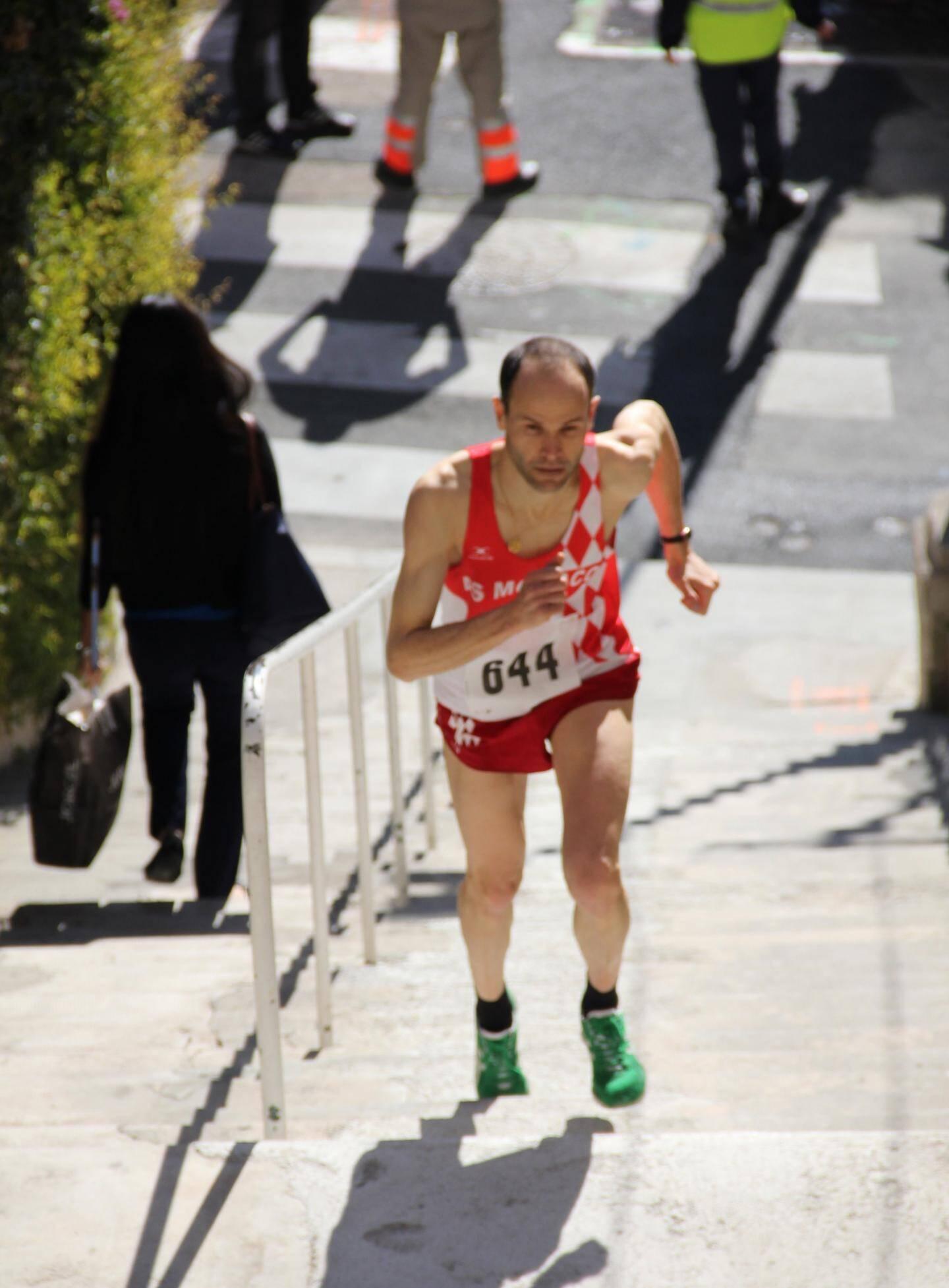 Le record actuel de la Course des Escaliers est détenu par Yannick Budelot de l'AS Monaco.