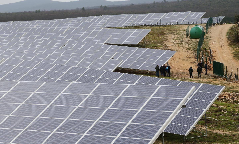 Parc photovoltaïque à Ollières dans le Var