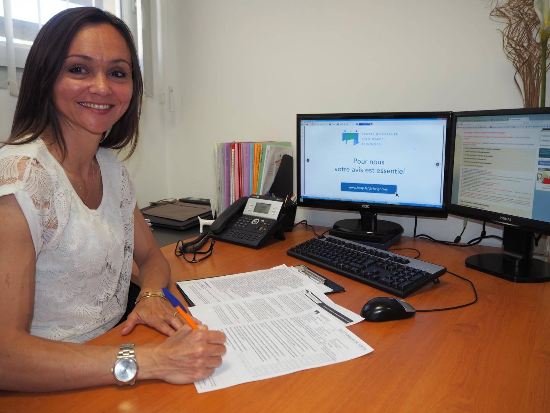 Christelle Hermitte, la responsable qualité et gestion des risques de l'établissement depuis 2001, fait entrer l'hôpital de Brignoles dans l'ère du numérique pour améliorer la satisfaction des usagers.