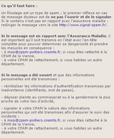 Les conseils de l'Assurance Maladie face au phishing.