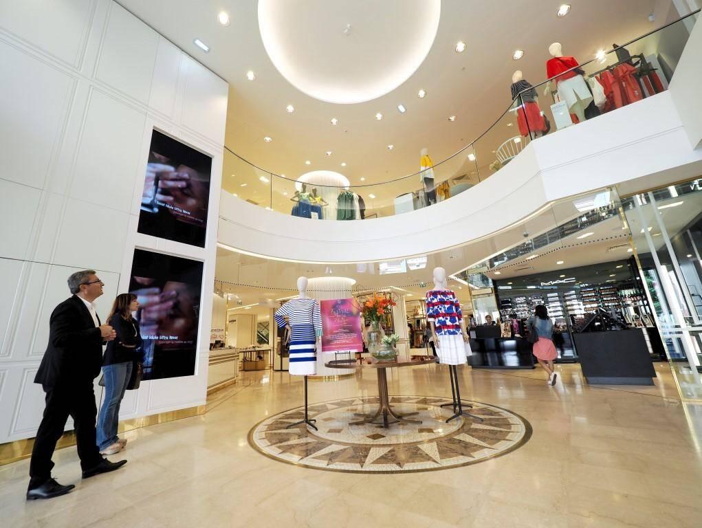 Le nouveau visage des Galeries Lafayette de Nice.