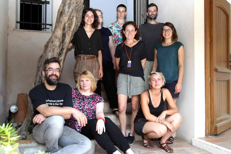 Huit commissaires ont travaillé sous la houlette de Benjamin Lignel (en bas à gauche) pour cette exposition à l'espace Solidor du Haut-de-Cagnes.