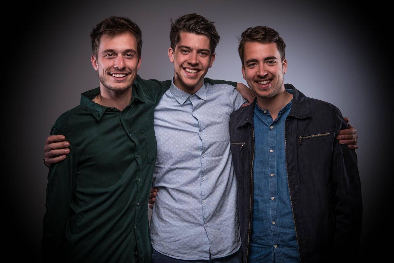 Adrien Deverdun, Thomas de Bie et Julien de Bie, trio en tête de l'organisation de ce premier festival monégasque de musiques électroniques.
