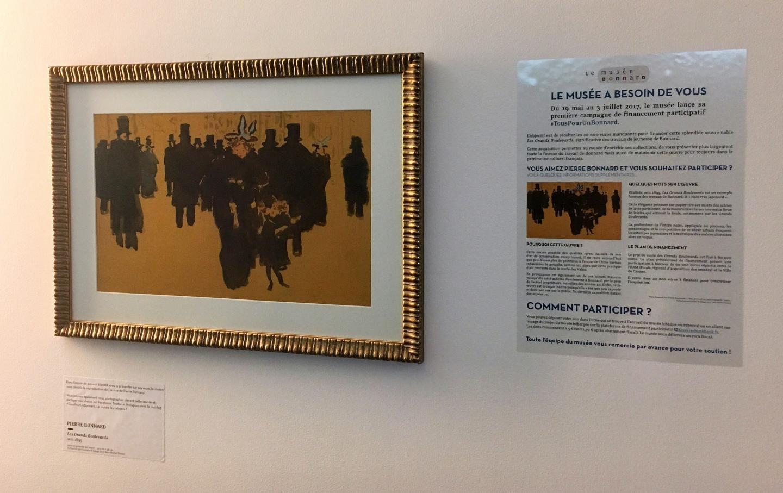 Une reproduction du tableau en attente d'être remplacée par l'originale est déjà sur les cimaises du musée.
