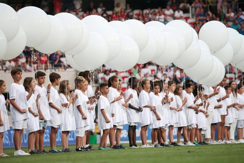 Le match des légendes pour les familles des victimes de l'attentat de Nice.