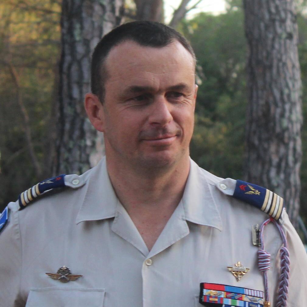 Le nouveau commandant, David Perrot.