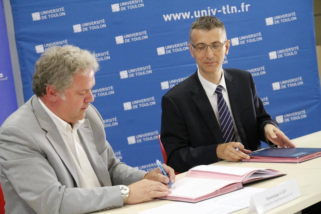La participation du Département, ici représenté par Dominique Lain, s'élève à 2,1 millions d'euros.